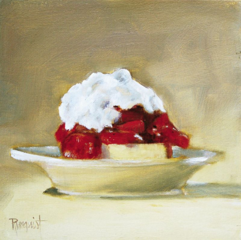 "Strawberry Shortcake, 2009, 10"" x 10"", oil on board"