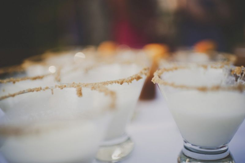 DRINK UP: The bride's favorite cocktail of the evening? A Key Lime Martini with a Graham Cracker Rim