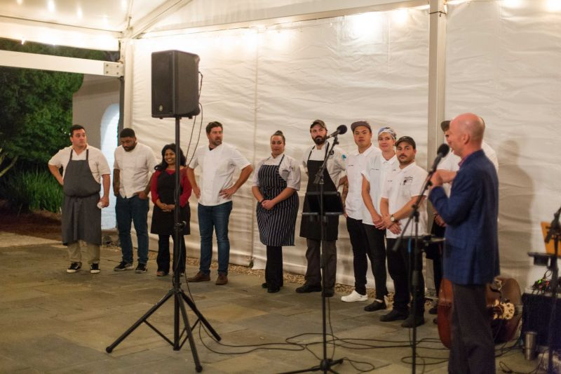 All of the chefs who participated were honored during the event.