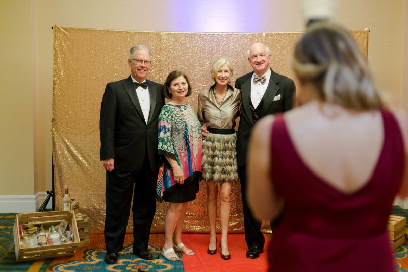 Buddy and Meg Howle pose for a photo with Phyllis Gray and Sandy Johnson.