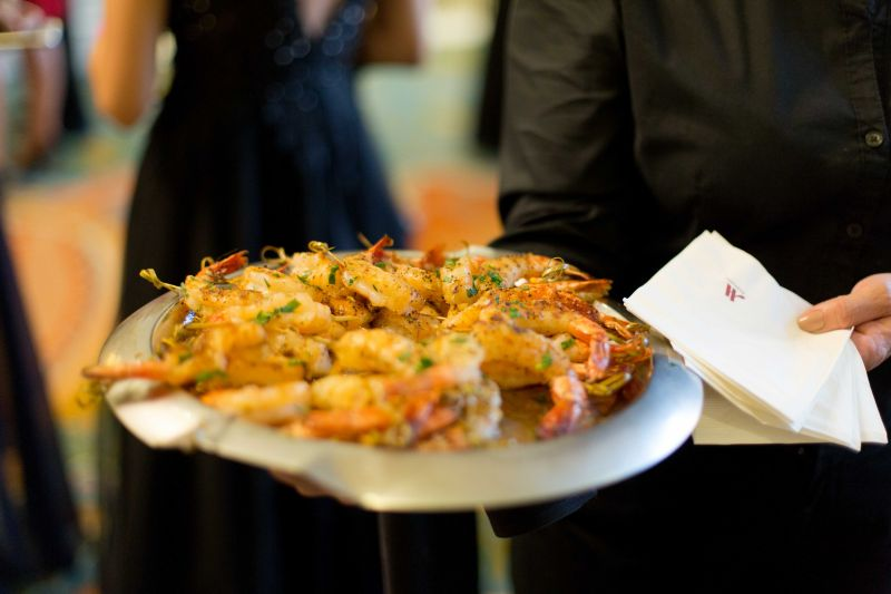 The Marriott provided a number of scrumptious hors d'oeuvres, including grilled shrimp kabobs and bite-sized caprese salads.