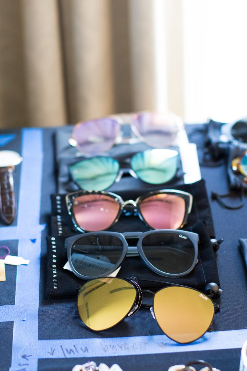 and sunglasses galore.