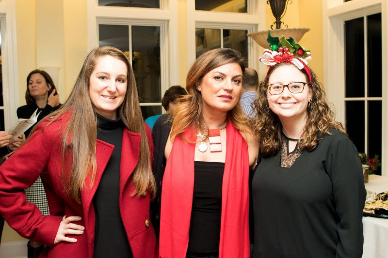 Charleston magazine marketing manager Betsy Geier, Miriam Leonetti, and Alex Field
