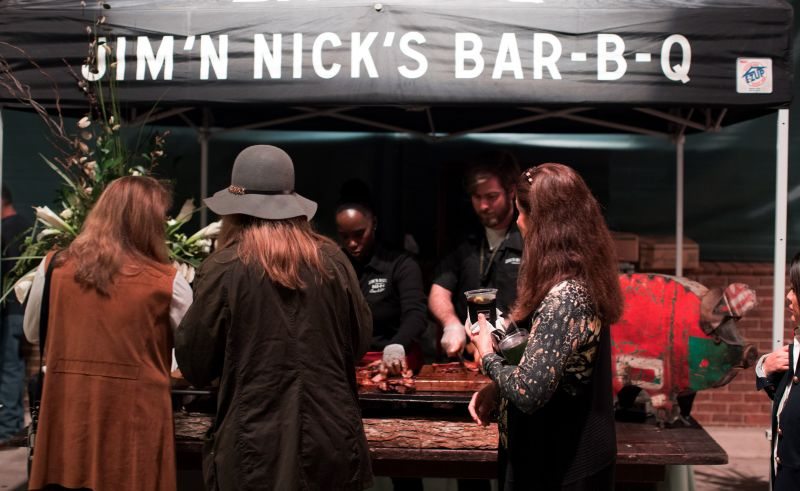 Jim 'N Nick's Bar-B-Q served up their signature smoked goods