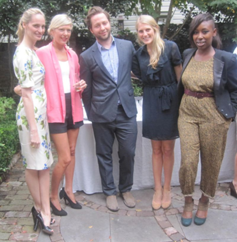 Lauren Santo Domingo, Jackie Tyler Thomson, Derek Blasberg and friend, Ayoka Lucas
