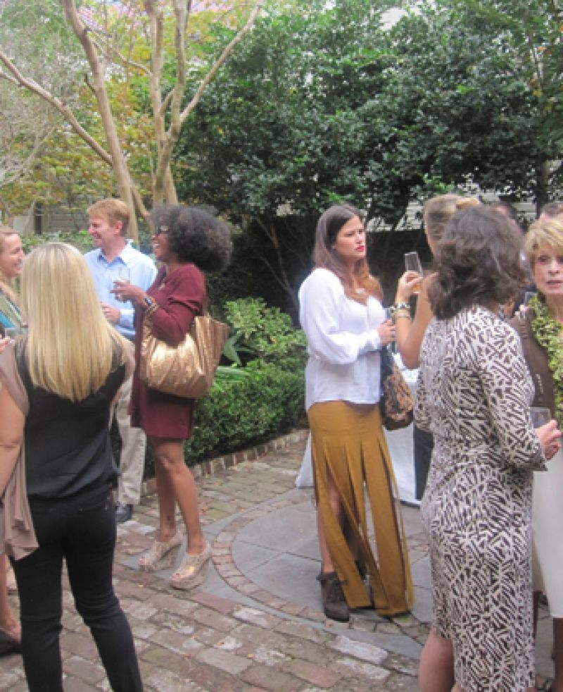 The style mavens gather for this intimate garden affair.