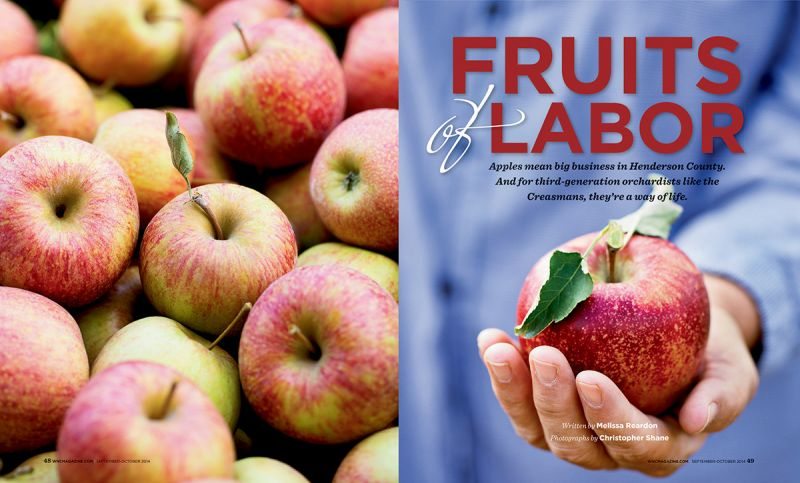 """Fruits of Labor,"" WNC magazine, September-October 2014"