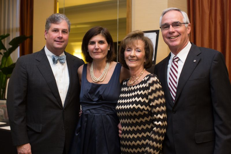 Elizabeth and Marc Marchant with Ann and David Morris