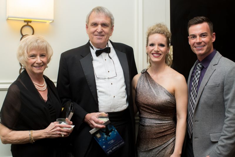 Jackie and Bob Kohn with dancers Alexa Thacker and Marshall Morris
