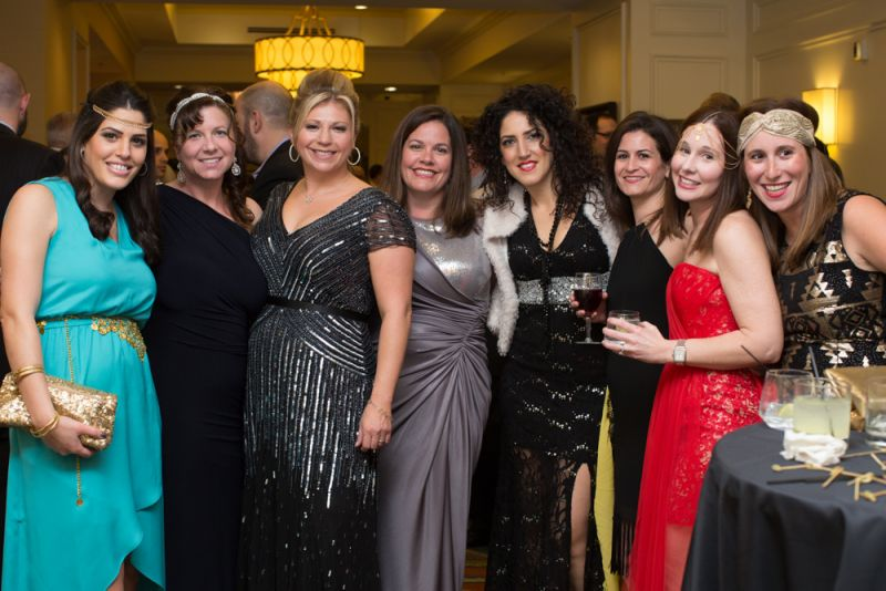 Liz Arviv, Rebecca Robinson, Committee Chair Laura Zucker, Lydia Sniderman, Stella Mesicka, Maya Gabriel, Samantha Goldberg and friend