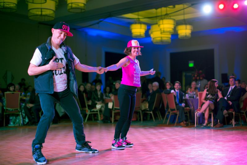 Helen Pratt-Thomas and Travis Willert showed off their moves.