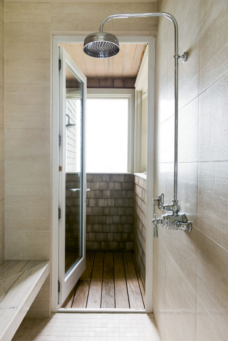 ...as well as indoor and outdoor showers.