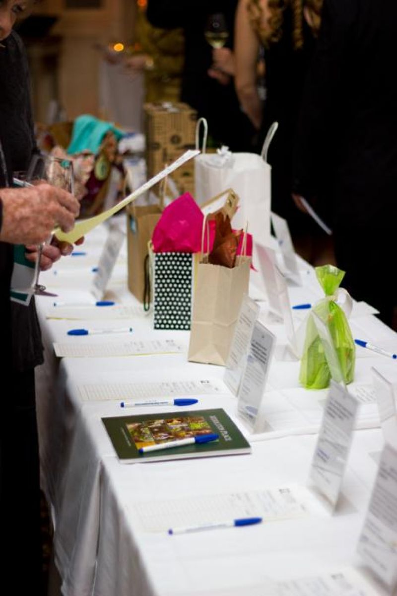 The evening began with a silent auction.