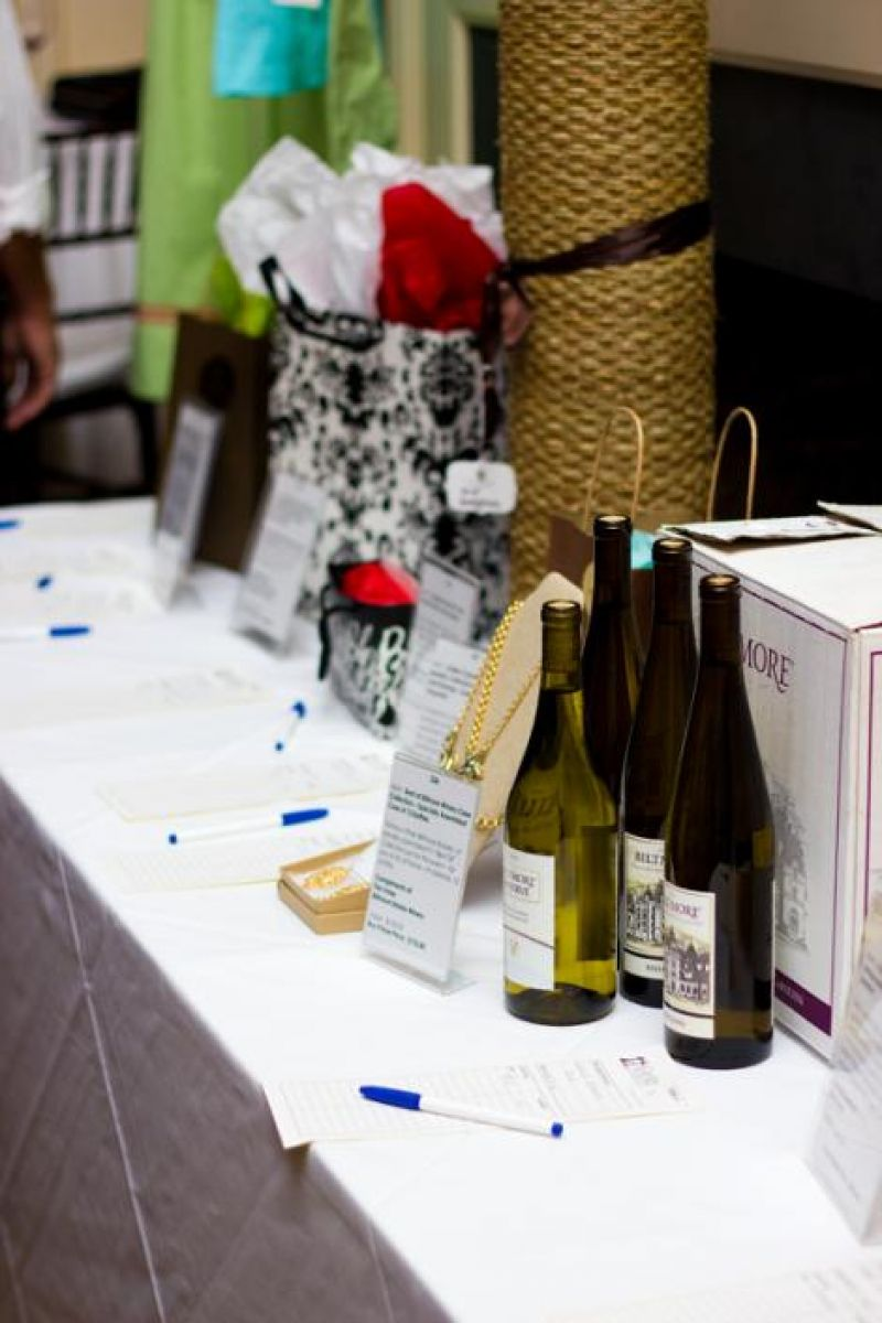 Items at the silent auction included a case of wine from Biltmore Estate.
