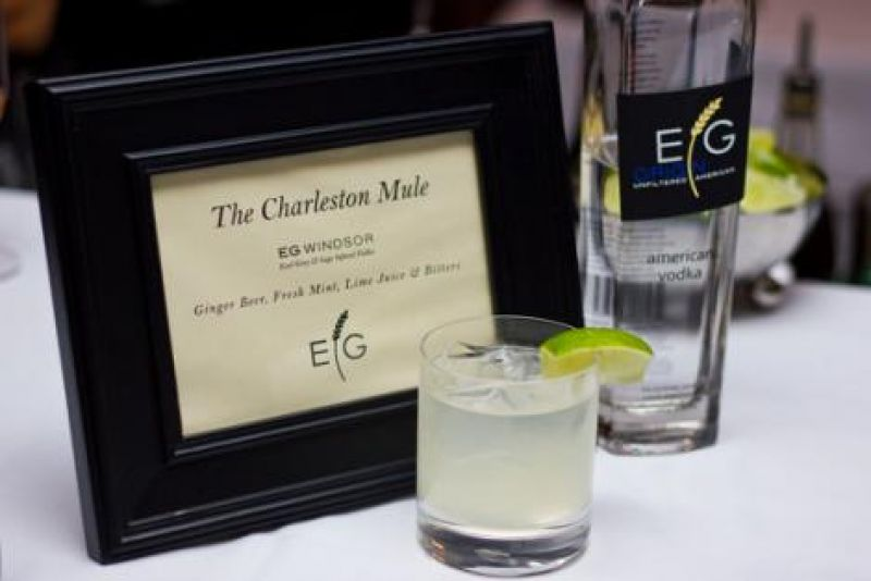The evening's signature cocktail was
