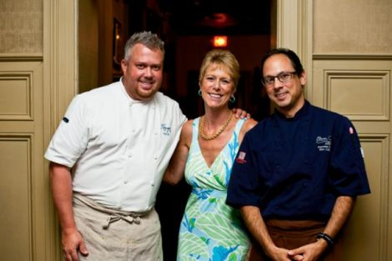 Chef Ford Fry, Linn Lesesne, and chef Marc Collins