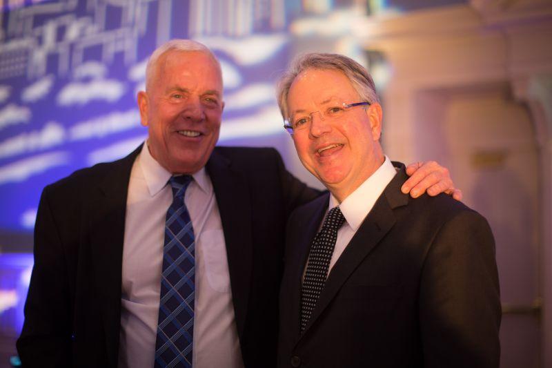 Jamie Price and Mayor John Tecklenburg