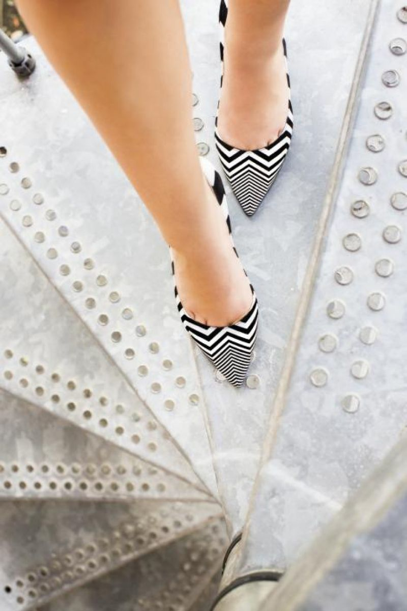Nicholas Kirkwood chevron-printed suede pump, $695 at Bob Ellis Shoes