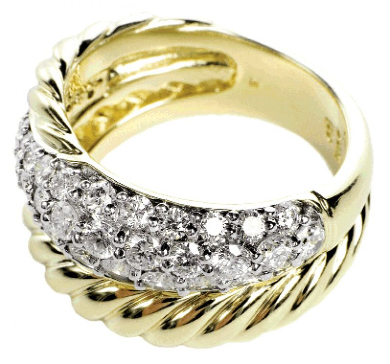MILKY WAY: 18K yellow gold David Yurman ring with pavé diamonds (1.2 total ct.) REEDS, $4,500