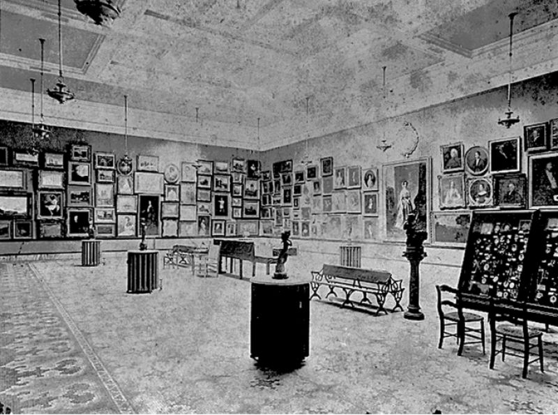 The Main Gallery on the second floor in 1905