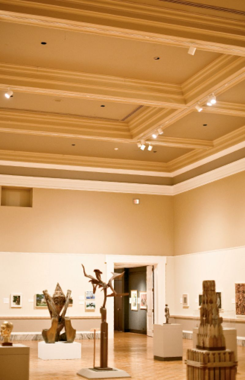 "The second-floor Main Gallery will house the museum's permanent collection—along with newly welcome daylight once the original skylights are restored—and have no ""basketball court flooring,"" as Daly calls the current parquet overlay."