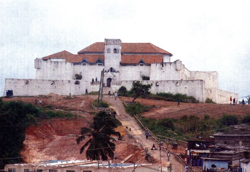 The well-trodden path leading from Elmina Castle is the same one captives took in route to the slave ships waiting to transport