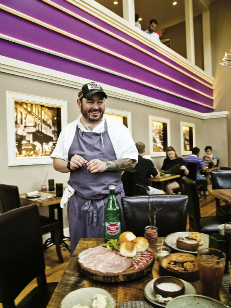 Chef Sean Brock of Charleston's McCrady's and Husk delivers a table-filling chef's tasting menu in his newest venture, Husk Nashville.