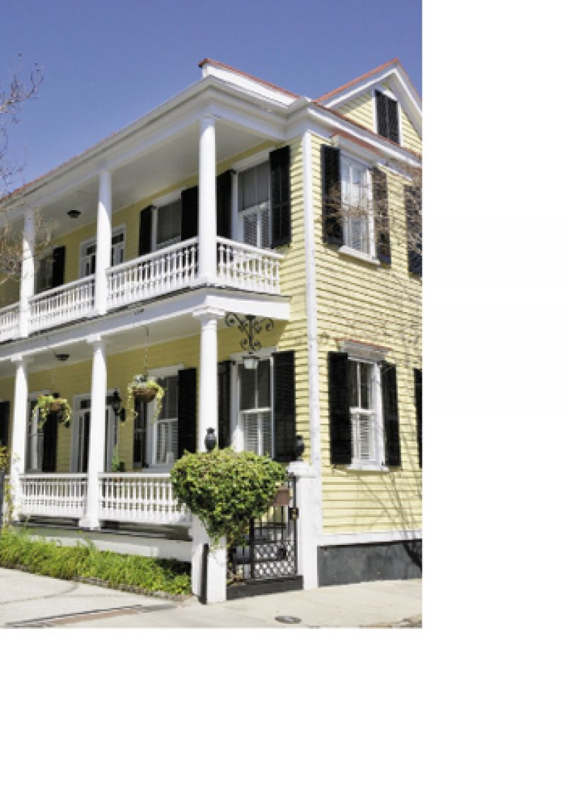 Some historians say the narrow homes with gables on one side are a form that originated in Barbados.