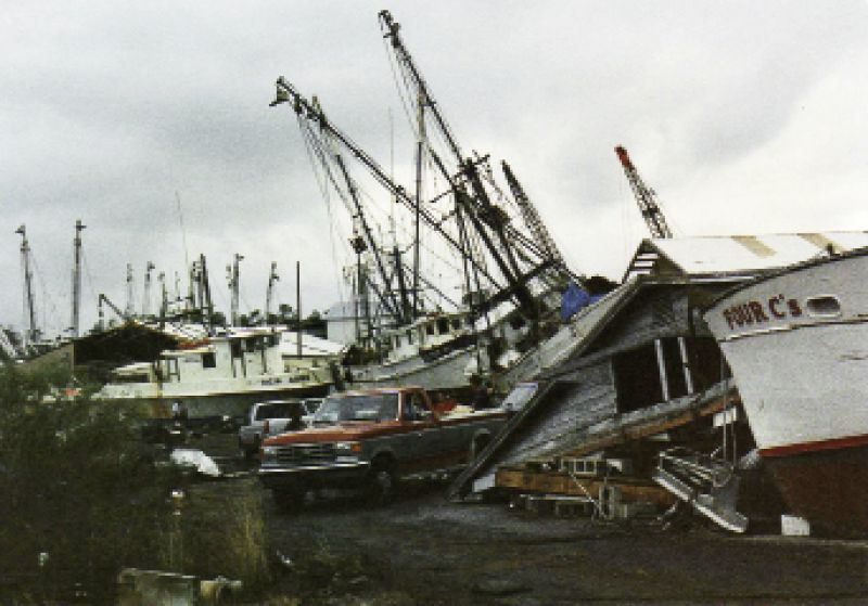 With boats and businesses piled atop each other, the economy of the shrimping village of McClellanville was shattered.