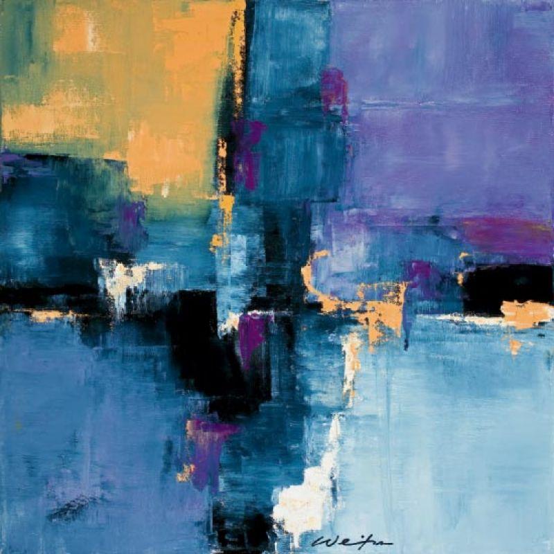 "Indigo Echoes, 2012, 24"" x 24"", oil on canvas"