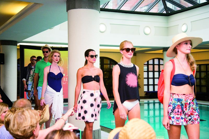 The poolside fashion show
