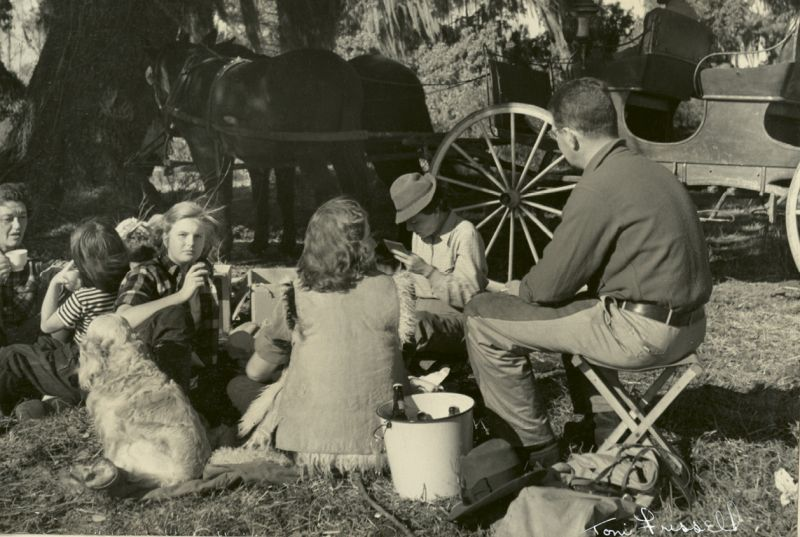 A picnic on the grounds
