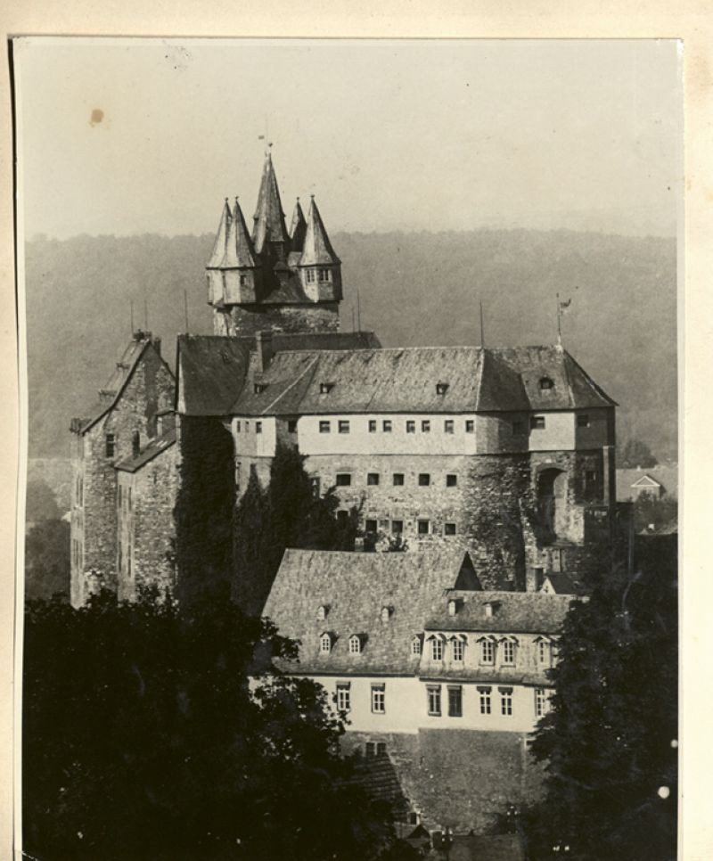 The 13th-century castle in the German village of Dietz where Gertie was imprisoned for six weeks; it was there that she met Lieutenant Gosewich.