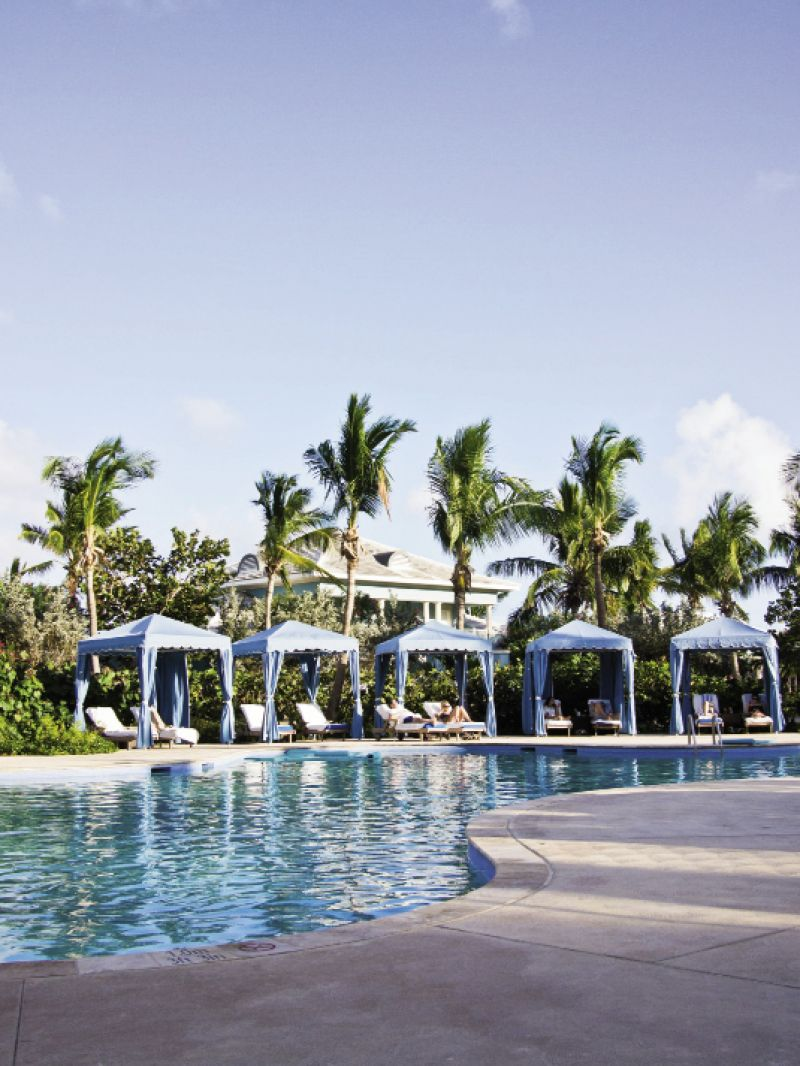 """Of the resort's three pool areas, the tucked-away """"quiet pool"""" offers the most relaxation."""