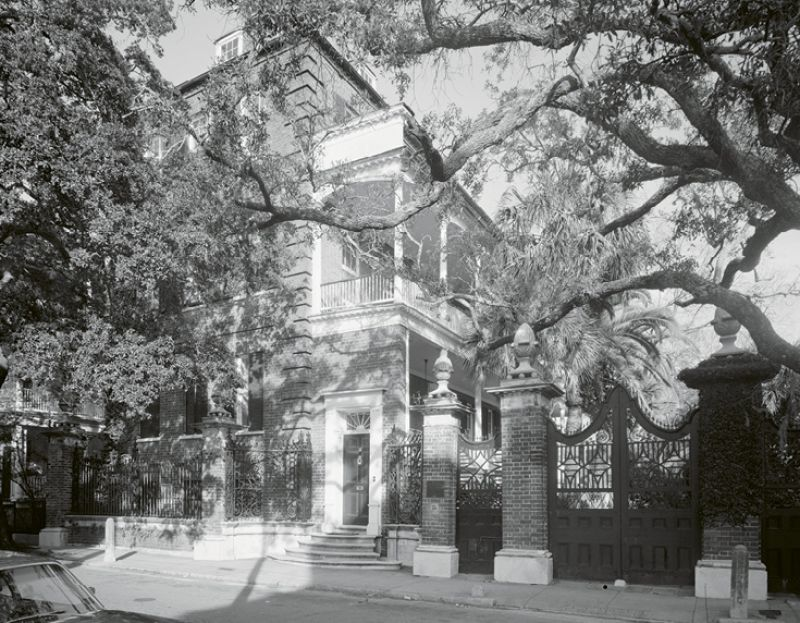 "In October 1946, Marjorie bought the Simmons-Edwards House (also known as the ""Pineapple Gates House"") at 14 Legare Street as a winter home. She sold it three months later to Dr. L. S. Fuller of Columbia."
