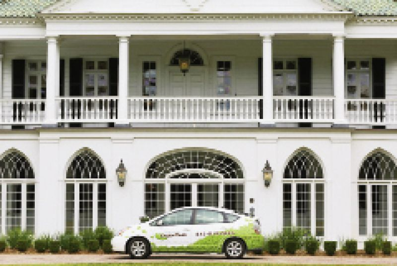 Hybrid car from Charleston Green Taxi