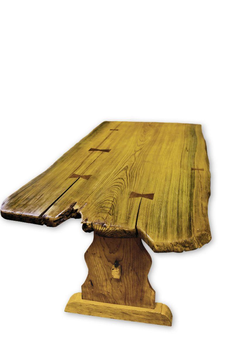 "sunken cypress table, 2012, 6' x 36"" x 31"""