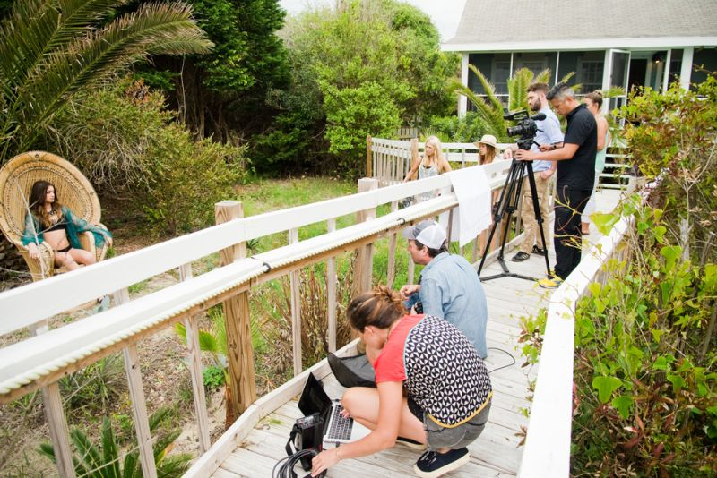 The crew, including Frank, his assistant, filmmaker Virgil Bunao, and production assistant Sol Basconcillo prepping another shot