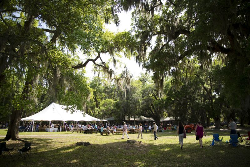 The Middleton Place grounds were the perfect spot to celebrate local fare.