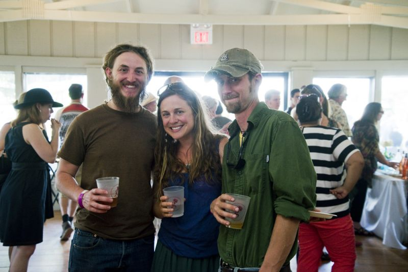 "Local farmers Bo Collins (Sol Haven Farm), Rita Bachmann (Rooting Down Farms), and ""Skinny"" Ken Melton (Lowland Farms) enjoy an afternoon dedicated to celebrating their hard work in providing fresh, healthy, and local ingredients."