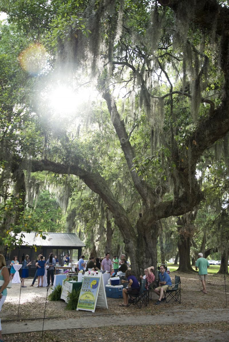 The live oaks on the grounds of Middleton Place added to the local charm of the evening.