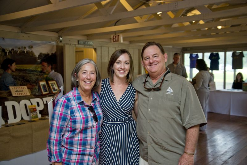 Boo Collins, LLF Sustainable Agriculture Program Director Nikki Seilbert, and Bobby Collins relax at the end of a successful event.