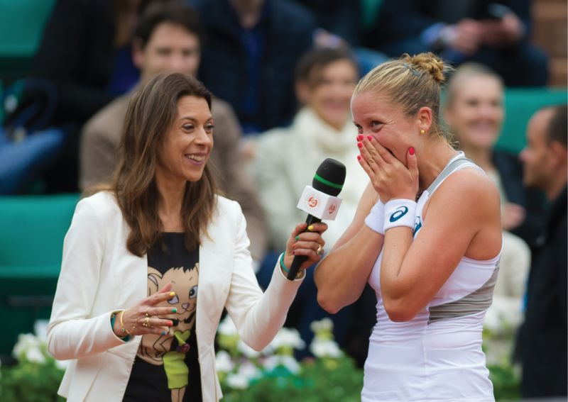 """During her French Open on-court interview with Marion Bartoli after her win into the quarterfinals, Rogers tearfully said, """"I always dreamed it would happen, but I'm not sure I thought I could."""""""