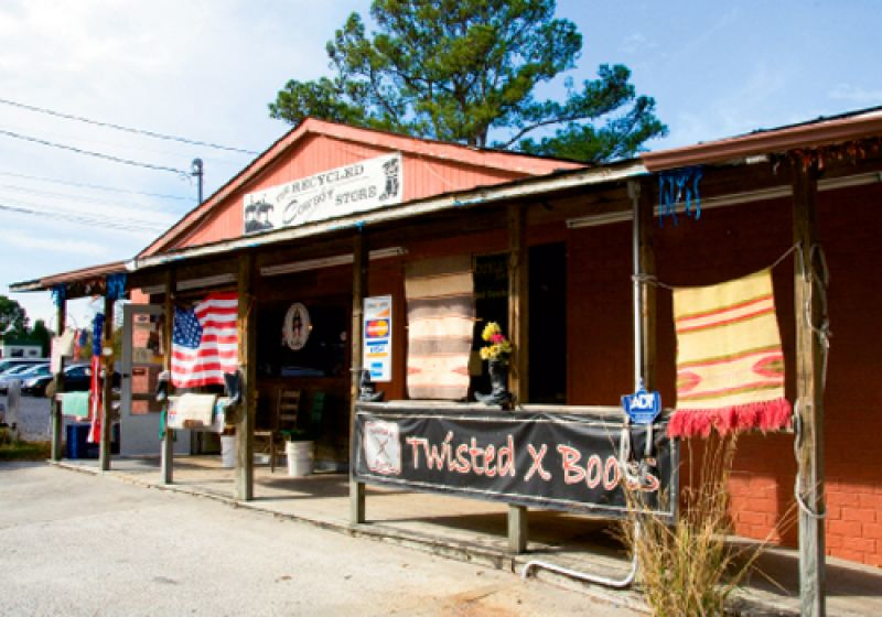 Patrons can buy, trade, and barter for new and used goods at The Recycled Cowboy Store, next door to the Coastal Carolina Flea Market in Ladson.