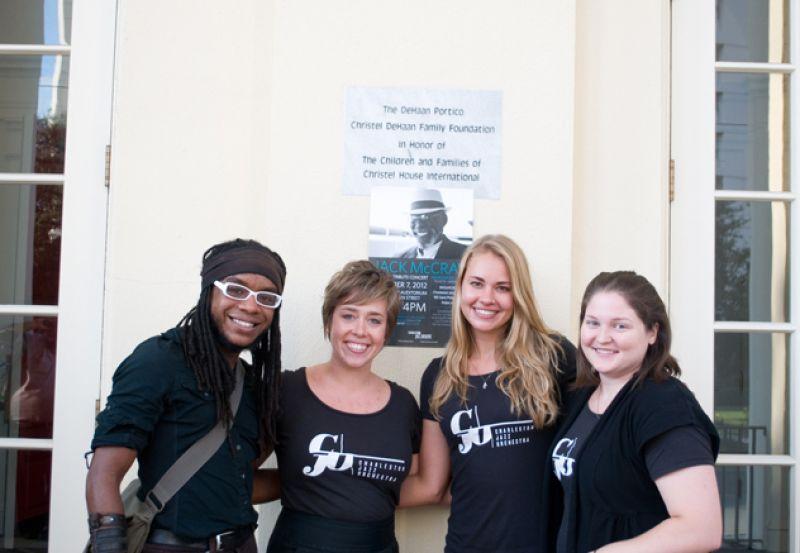Charleston Jazz Orchestra Staff Photo: Marcus Amaker, Erin Fornadel, Lauren Meshako, Brittany Burkett
