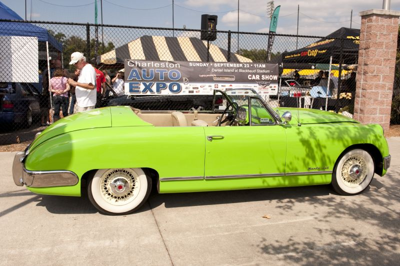 This eye-catching lime green convertible welcomed attendees to the expo.