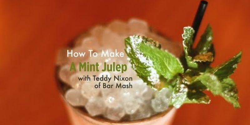 Embedded thumbnail for VIDEO: How to make a mint julep with Teddy Nixon of Bar Mash