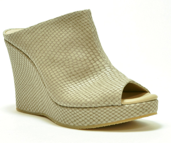 """Witten"" peep-toe wedge sandals by Cordani­"