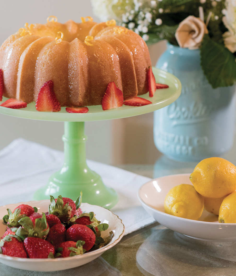 "Lemon ""cheesecake"" is a Southern classic usually baked in thin layers that alternate with icing, but Upchurch opts for a bundt style."