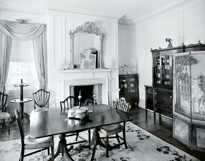 A look inside Fenwick Hall in 1933
